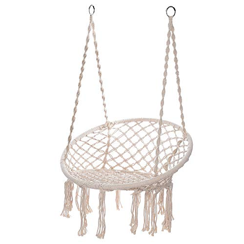 Orcbee  _Hammock Chair Macrame Swing Handmade Swing Chair Prefect for Indoor/Outdoor