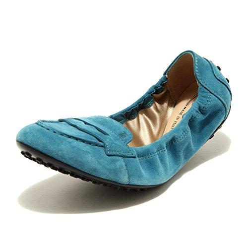 Tod's Donna 49132 Scarpe Blu Women Dee Shoes Ballerine 8zEax5qanT