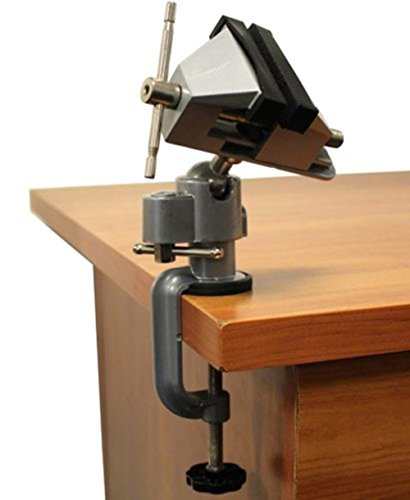 Bench Vise Clamp 3 Tabletop Vise Tilt Rotates 360° Work Tool TKT-11