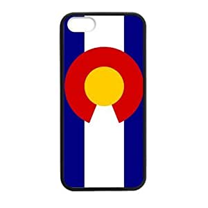 New Style Colorado State Flag Apple Iphone 5S/5 Case Cover TPU Laser Technology Snap-on Hard Plastic