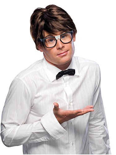 Rubie's Adult Character Costume Wig, Brown Nerd -