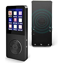 Mp3 Player, Hotechs Hi-Fi Sound, with FM Radio, Recording Function Build-in Speaker Expandable Up to 64GB with Noise Isolation Wired Earbuds ¡­