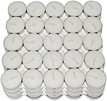 Nanki Trades Wax Tea Light Candle (White, Set of 100)