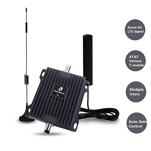 (Cell Phone Signal Booster for Car, RV and Truck - Enhance 4G LTE Voice and Data Signal for Verizon, AT&T and T-Mobile - Dual 700MHz Band 12/13/17 Cellular Repeater Antenna Kit for Vehicle )