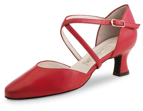 Werner Kern Women's Patty - 2 1/4'' (5.5 cm) Latin Heel, Red Leather, 7 M US (4 UK) by Werner Kern