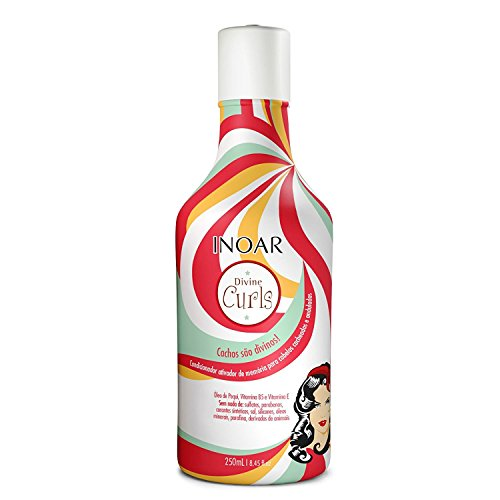 - INOAR Professional - Divine Curls Conditioner- Moisturizes & Smooths Each Strand Without Weighing Down Your Hair for Beautiful & Bouncy Curls (8.45 Fluid Ounce / 250 Milliliter)
