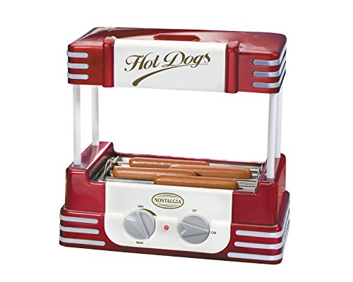 Nostalgia electrics rhd800 retro series hot dog roller - Hot dog roller grill with bun warmer ...