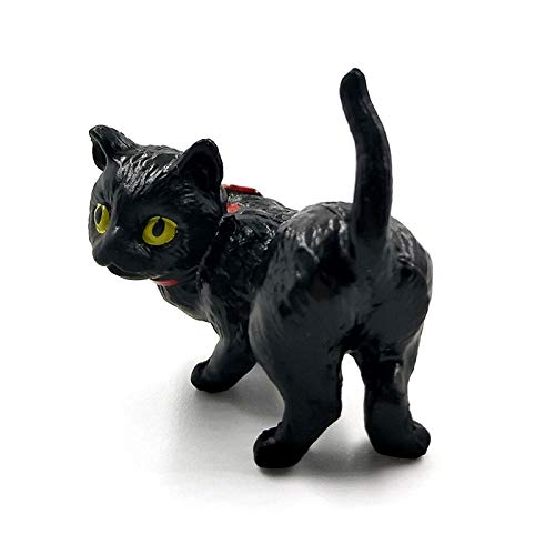Viet-GT Cat Statue - 1pc Playing Cat Figurine Miniature Lifelike Kitten Animal Decoration Mini Fairy Garden Cartoon Statue Craft Home Car Decorative ()