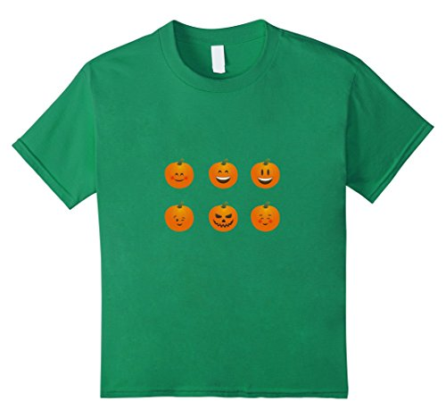 Bingo Halloween Costume (Kids Funny Halloween Pumpkin Emoticon Shirt 12 Kelly Green)