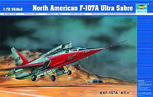 F-107A Ultra Sabre Jet 1/72 Trumpeter