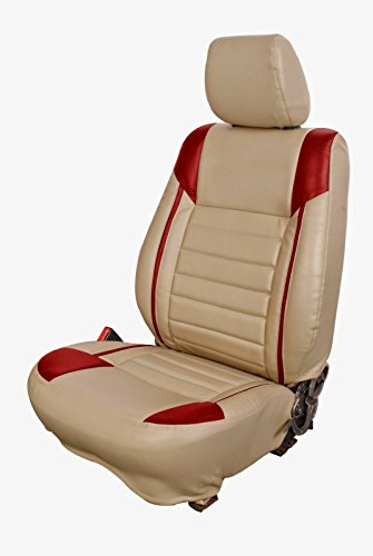 Casa 13046 Bold Corners Car Seat Cover For Mahindra Xylo Beige