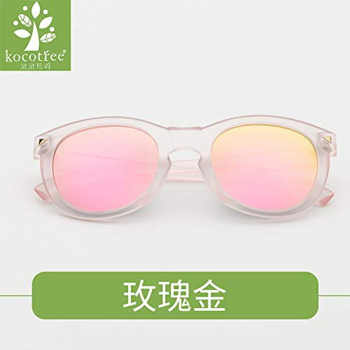 (Tree Style Child Girls Boys Girls Glasses Children Sunglasses uv Protection Sunglasses Fashion Personality (Rose Gold)