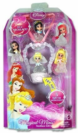 Minis Princess Magical Disney - Disney Princess Magical Minis Necklace Gift Set the Bridal Collection. The Snow White, Ariel, Cinderella, Sleeping Beauty and Belle