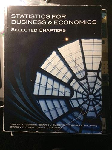 Statistics For Business & Economics Selected Chapters