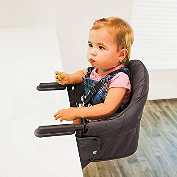 Perch Hanging High Chair In Navy | Quick Grip Table Clamps | Measures  9u0026quot;
