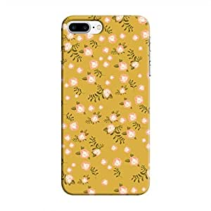 Cover It Up - Pink Flower Olive Paper Apple iPhone 7 Plus Hard Case