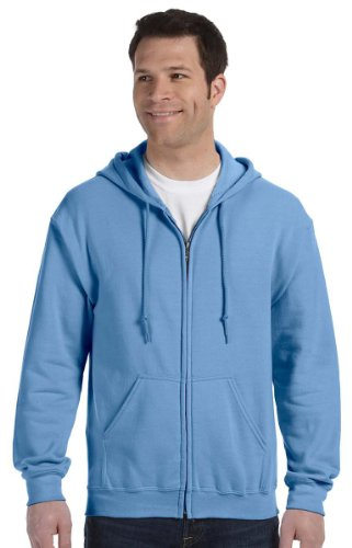 Gildan Heavy Blend Adult Full-Zip Hooded Sweatshirt, Carolina Blue, XXXX-Large