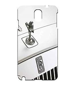 Samsung Galaxy Note 3 N9005 Solid Carcasa Rolls Royce Popular Brand Logo Series Ultra Slim Shell Cover Para Men