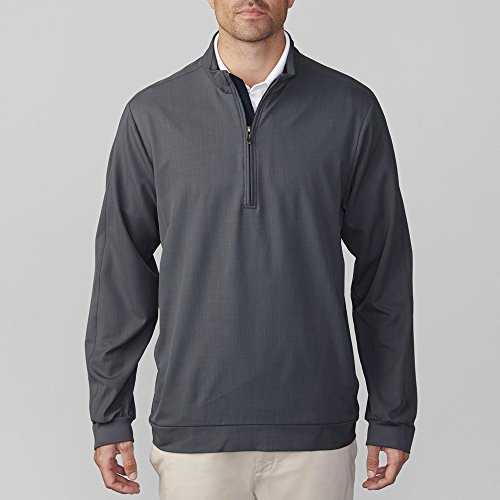 Ashworth Stretch Wind 1/2 Zip Pullover Charcoal M