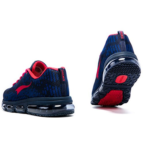 YiDiar Men's Flexible Air Cushion Running Shoes Lightweight Outdoor Training Sneakers Blue/Red buy cheap professional discounts cheap online exclusive sale online for cheap for sale 73pP9