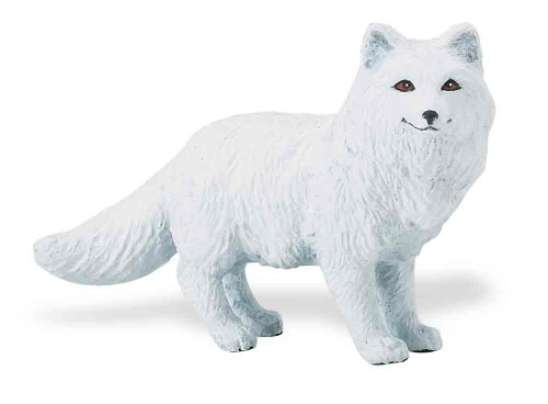 Fox Animal Figurine - Safari Ltd. North American Wildlife – Arctic Fox – Realistic Hand Painted Toy Figurine Model – Quality Construction from Phthalate, Lead and BPA Free Materials – For Ages 3 and Up