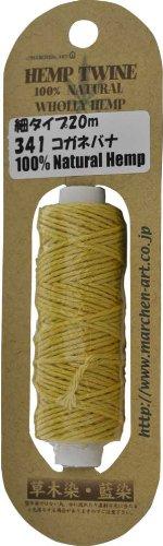 Fairy Tale Art hemp-to-wine thin type / Thickness: about 1.2mm (unspecified fiber Hemp100%) plant dyeing 20m winding 341. Scutellaria
