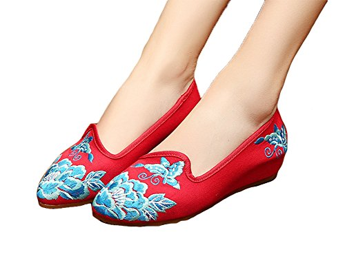 AvaCostume Womens Embroidered Rubber Pointed