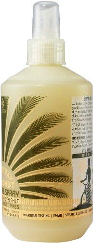 Alaffia Everyday Coconut Sea Salt Texturizing Spray, 12 oz 4 100% fair trade ingredients. Paraben free. Natural sea salt adds volume and shape to hair.