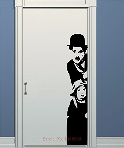 ANBER Art Decor chaplin the kid wall stickers Vinyl Movie star wall decal house decoration for liveing room kids room