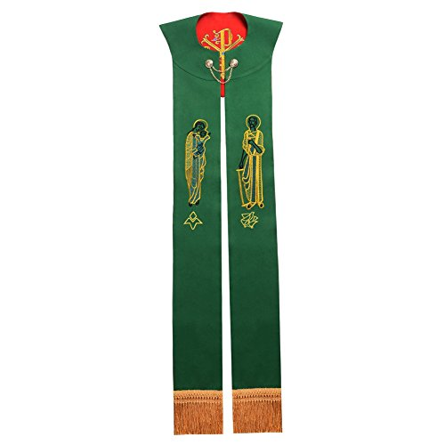 BLESSUME Priest Reversible Stole Embroidered Chasuble Stole by BLESSUME (Image #1)