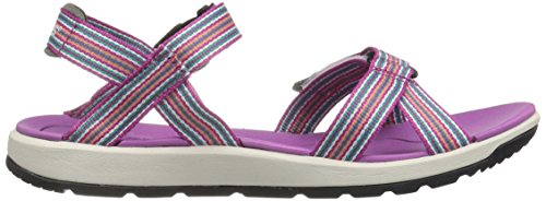Bogs Damen Rio Stripes Athletic Sandale Berry Multi