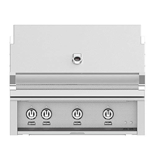 Hestan 36-inch Built-in Natural Gas Grill W/All Infrared Burners & Rotisserie – Steeletto – Gsbr36-ng-ss