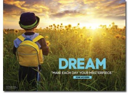 Dream Imagination & Creativity Poster. Inspiration / Motivation for Elementary School Classroom Children. Make