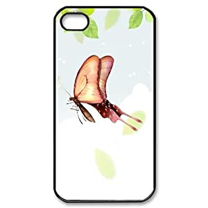 IPhone 4/4s Cases, Scratch Resistant Butterflies Illustration 2 Cases for IPhone 4/4s {Black}