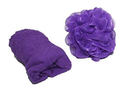 Blue Star Clothing Women's 3 Piece Bath Body Plush Towel Wrap Spa Set | Bath Body Towel Wrap with Adjustable Fastener, Hair Towel Twist, Loofah/Bath Body Sponge by Blue Star Clothing (Image #1)