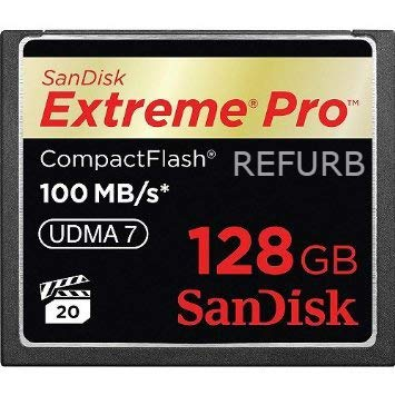 - SanDisk Extreme PRO 128GB CF CompactFlash Card UDMA 7 Speed Up to 100MB/s SDCFXP-128G-X46 (Renewed)