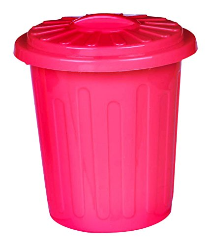 Plastic Trash Can Container Party Clean Up Supply, Red, 6