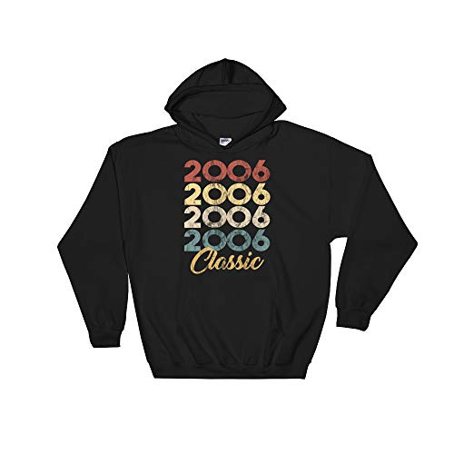 13th Birthday Gift for Girls and Boys Born in 2006 Classic Hooded Sweatshirt Black