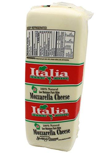 Shullsburg Creamery - Mozzarella Cheese - 6 Pound - Skim Part Mozzarella Cheese