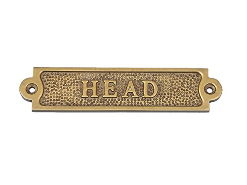 - Hampton Nautical MC-2203-AN Antique Head Decorative Vintage Brass Wall Sign