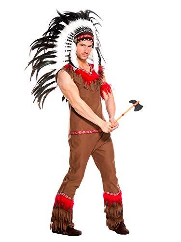 Music Legs Men's Indian Chief, Brown, ()