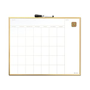 u brands magnetic monthly calendar dry erase board 20 x 16 inches gold aluminum frame - Dry Erase Calendar