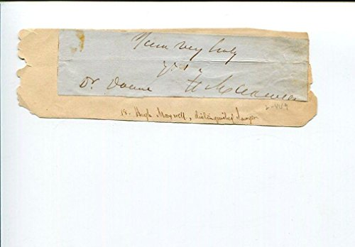 Hugh Maxwell NY Lawyer Collector of Customs at New York Port Signed Autograph