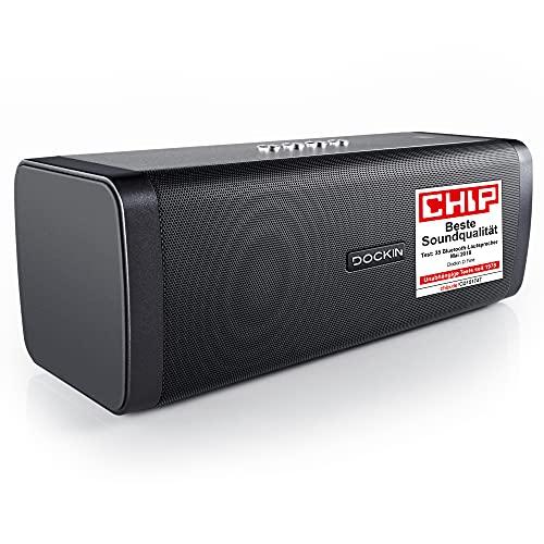 DOCKIN D FINE 50 W Hi-Fi Bluetooth-luidspreker – Goedgekeurd gebruik buitenshuis, superieur 2-weg stereogeluid tot 10…