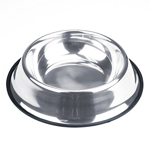 Weebo Pets Stainless Steel No-Tip Food Bowls – Choose Your Size, 4-Ounce to 72-Ounce