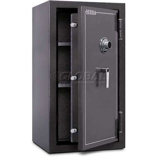 Mesa Safe MBF3820C All Steel Burglary and Fire Safe with Combination Lock, 6.4-Cubic Feet, Hammered Grey
