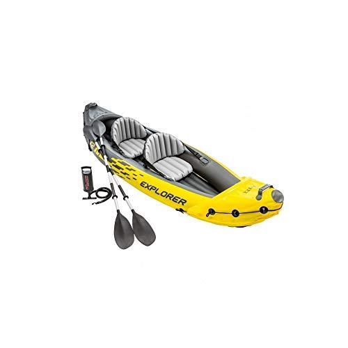 Intex 2 Person Explorer K2 Inflatable Kayak w// Aluminum Oars /& Air Pump 68307EP