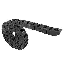 URBEST 10mm x 15mm Black Plastic Flexibl...