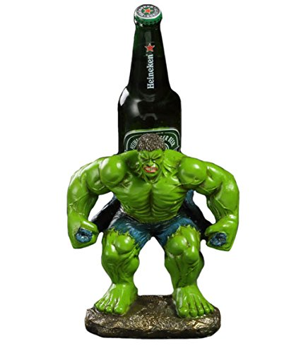 YOURNELO Creative Resin The Incredible Hulk Decorative Wine Rack Holder for Bar Cabinet - Racks Green Wine