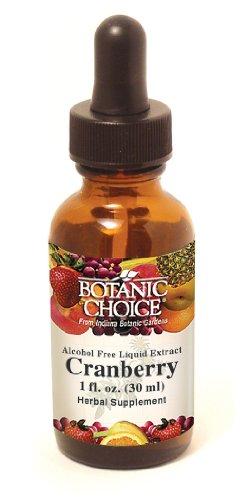 Ботанический Выбор Безалкогольное жидкий экстракт травяные добавки, клюква, 1 унция